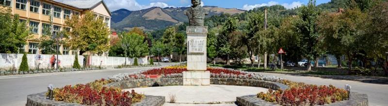 Busturile lui Avram Iancu şi Petru Dobra în centrul oraşului Zlatna